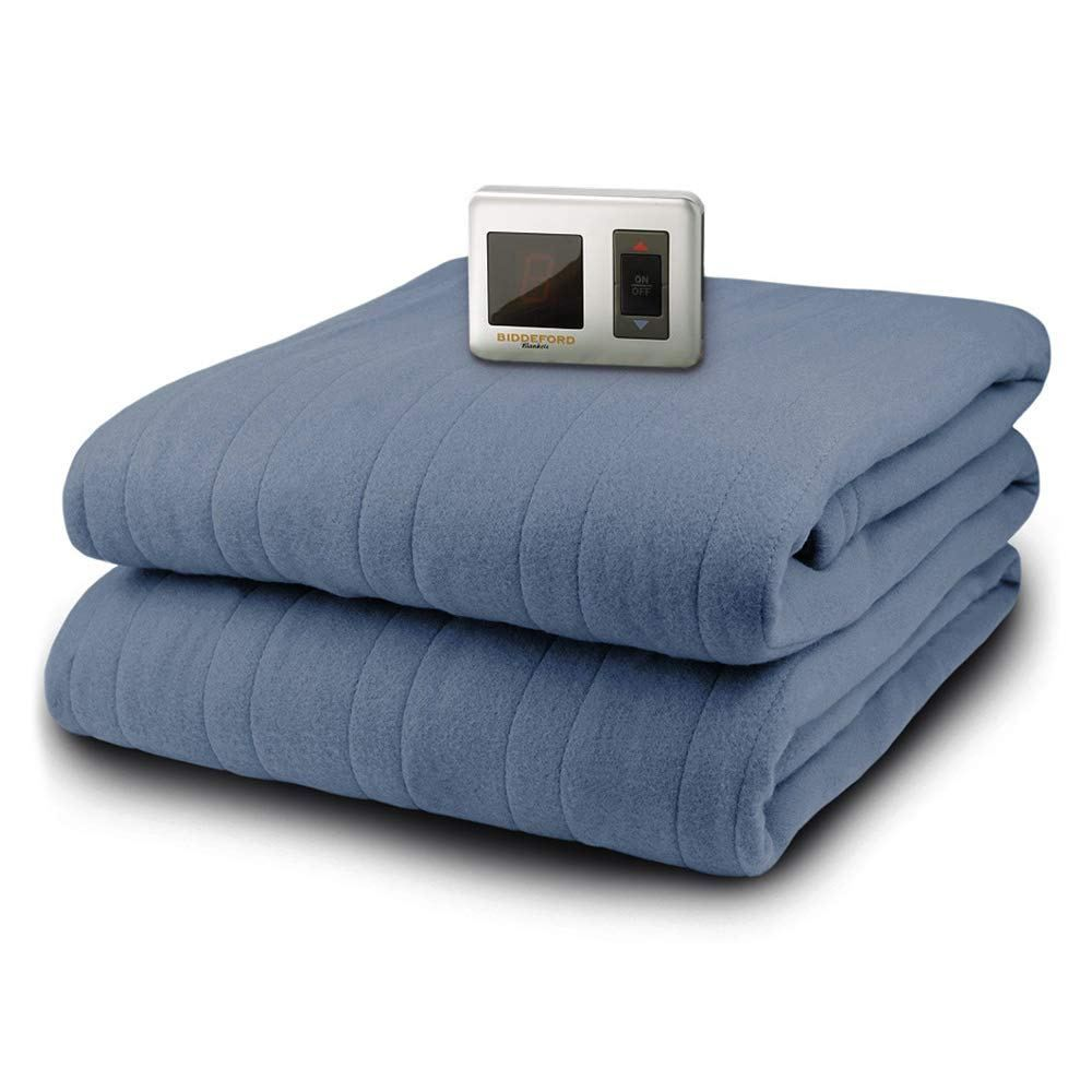 Biddeford MicroPlush Sherpa Electric Heated Warming Blanket Twin Full Queen King