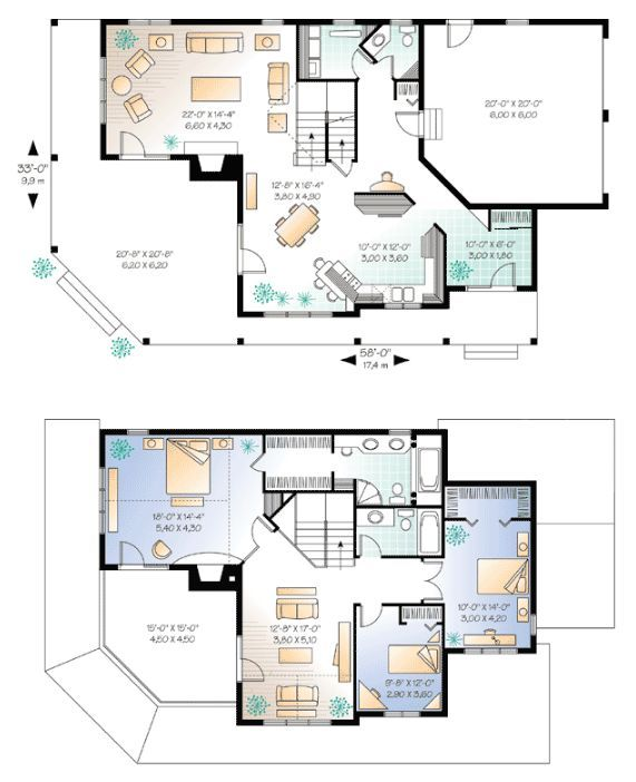 Imagine Your Next Dream Home With These 6 Unique Farmhouse Floor Plans Farmhouse Floor Plans Floor Plans Unique Farmhouse