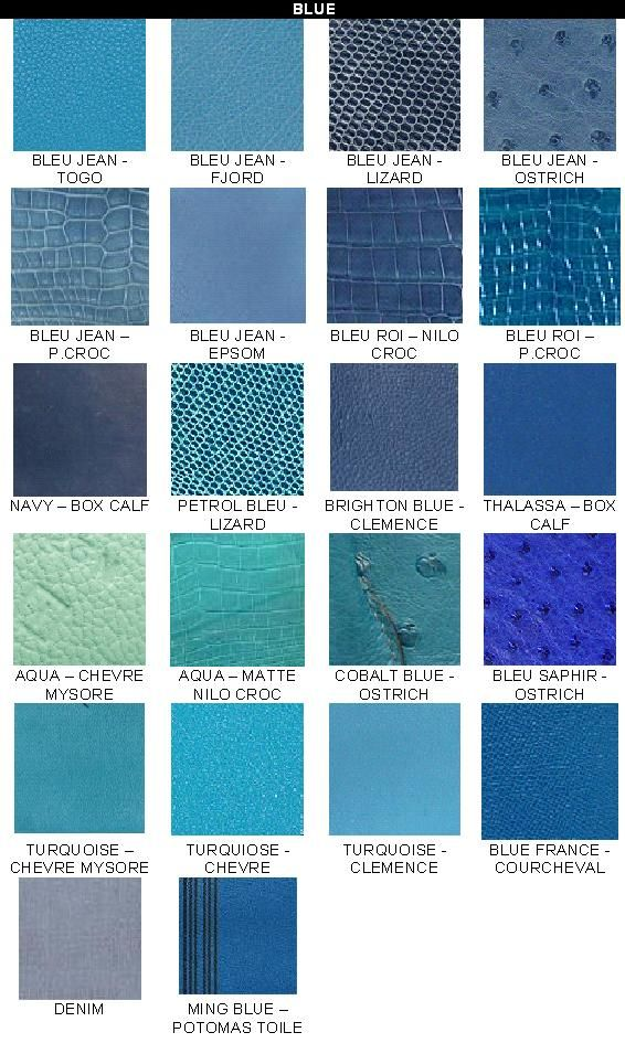Hermes Colour Chart Purseforum Blue Green Teal Aqua