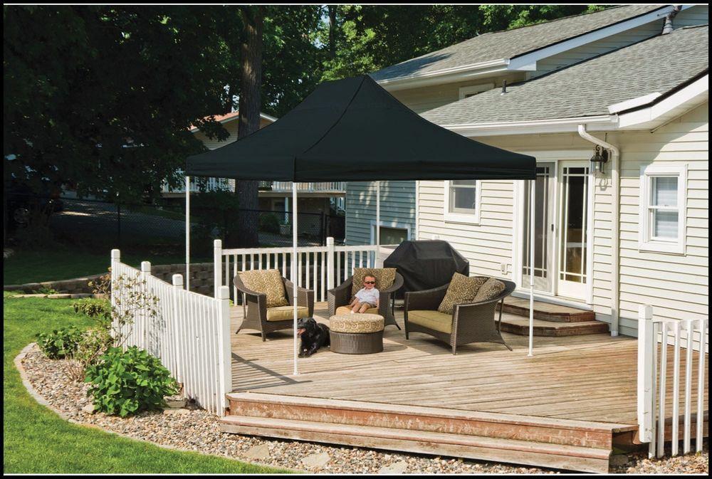 Outdoor Gazebo Canopy 10x15 Black Patio Backyard Furniture Shelter Steel  Fabric US $357.83#OutdoorGazeboCanopy