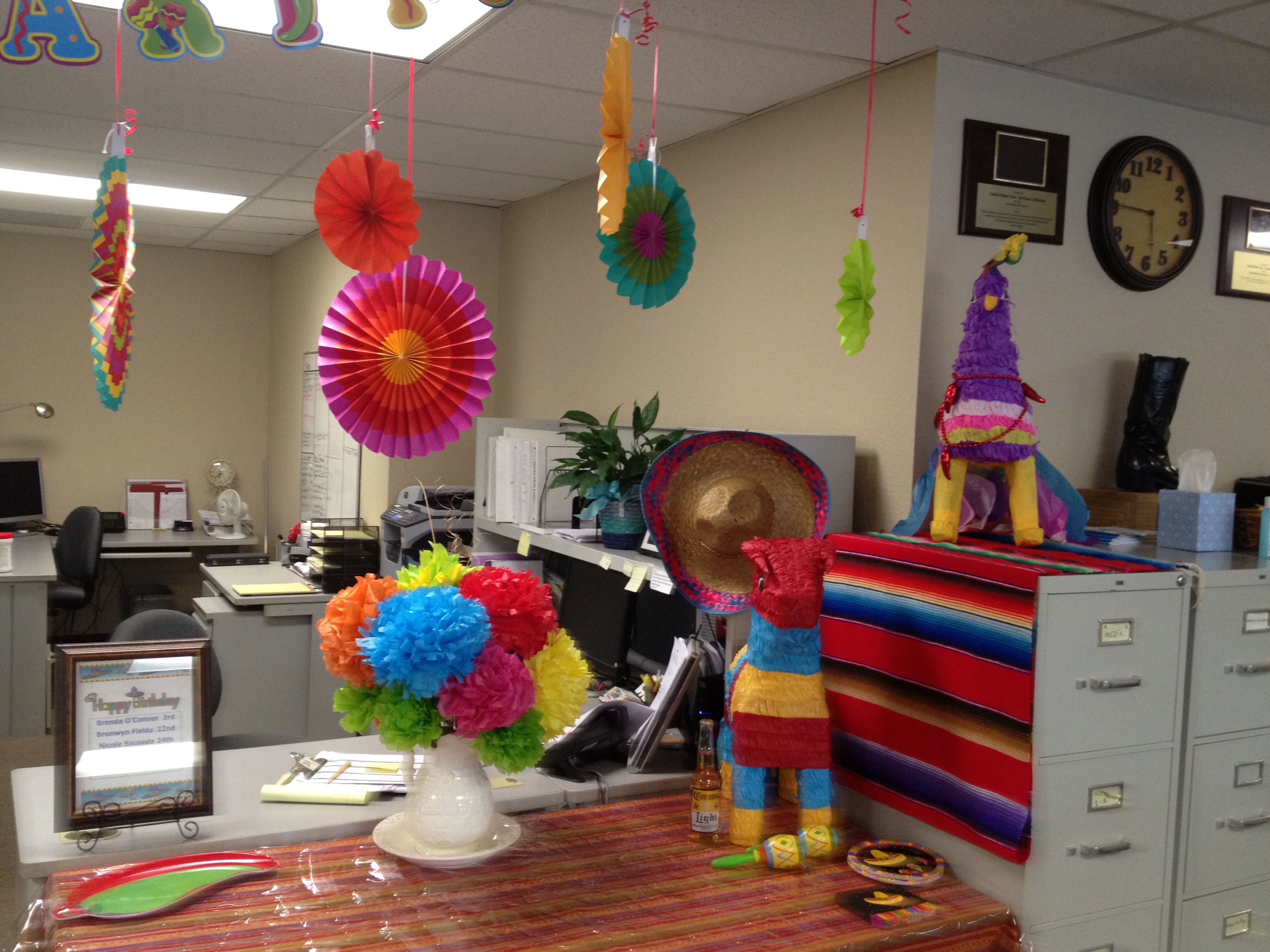 Cinco de Mayo office potluck | My decorations | Pinterest ...