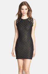 Dress the Population 'Lauren' Lace Detail Foiled Body-Con Dress