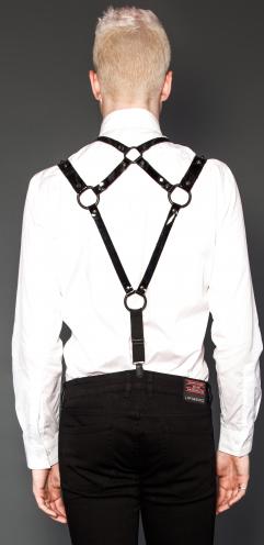 Inventive Mens Leather Body Chest Harness Restrain Belt Shoulder Strap Dress Fancy Costume Handsome Appearance Men