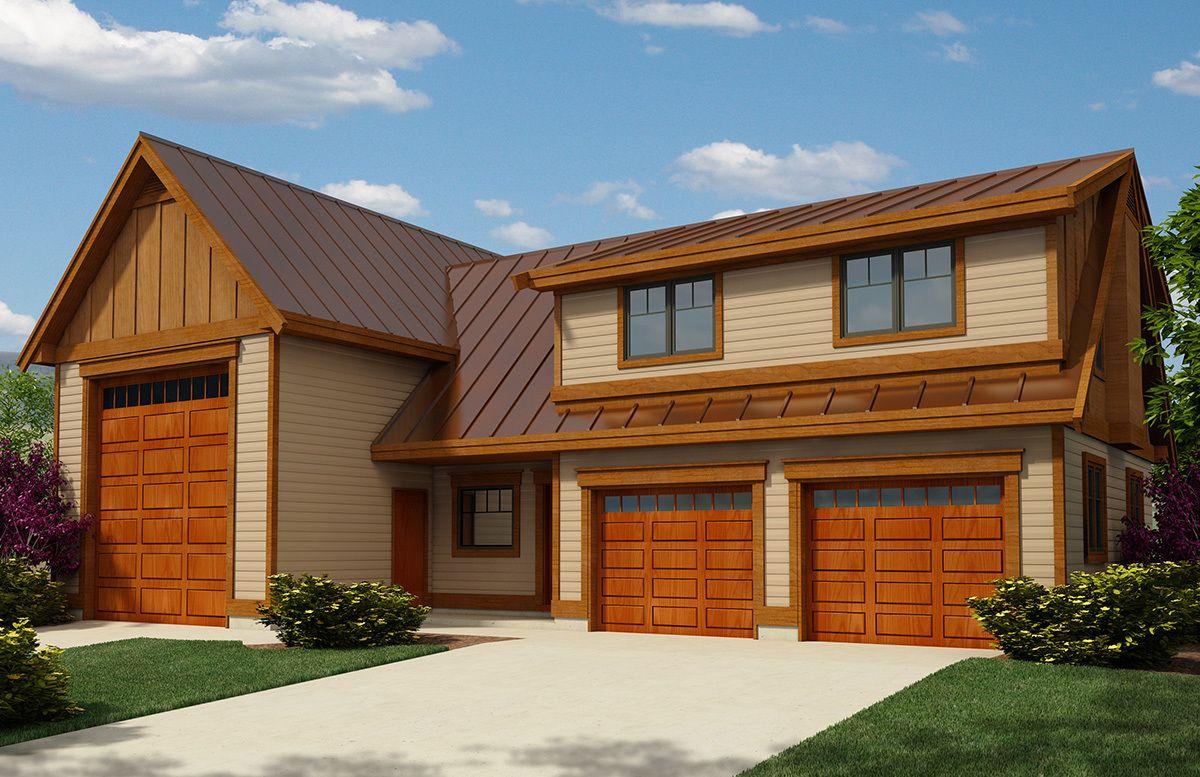 Plan 9839SW RV Garage Apartment with Guest Bed Garage