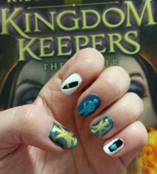 My KK nails!!! The logo, Walt\'s pen, a DHI, and the return fob ...