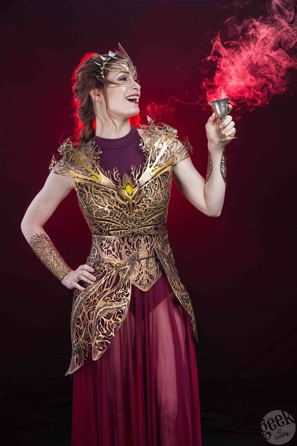 3ders.org - Felicia Day models stunning 3D printed Dream Regalia Armor by Melissa Ng in fantasy photo shoot | 3D Printer News & 3D Printing News