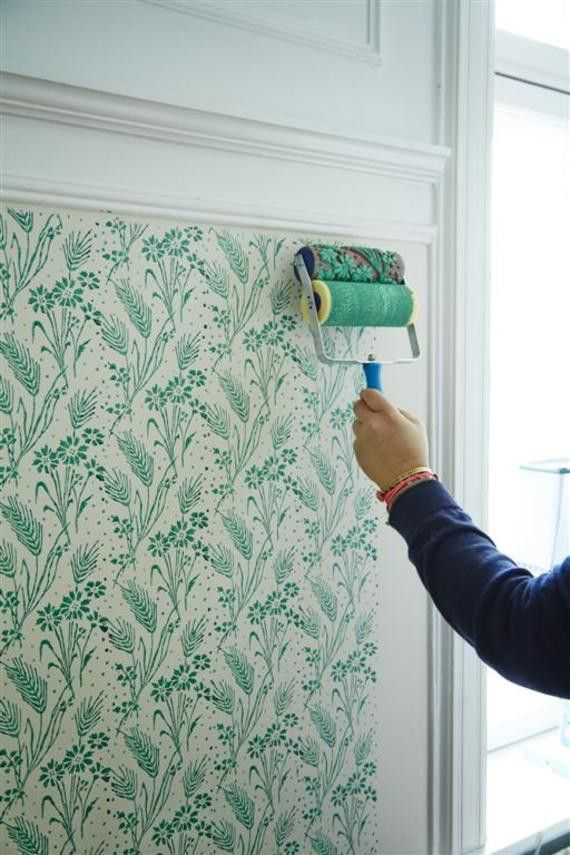 Rice Dk Decorative Floral Patterned Double Paint Roller Wall