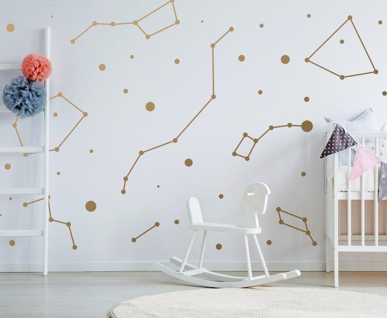 Constellations Vinyl Wall Stickers Zodiac Star Space Ceiling Etsy Vinyl Wall Stickers Vinyl Wall Ceiling Art