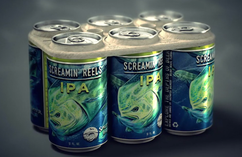Saltwater Brewery Creates Edible Six Pack Rings Biodegradable Products Beer Packaging Beer Company