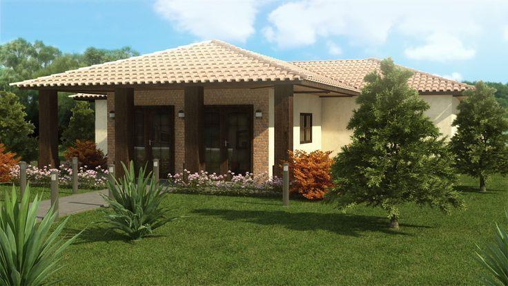 Modelos de fachadas de casas modernas de un piso casa de for Modelos de casas de campo modernas