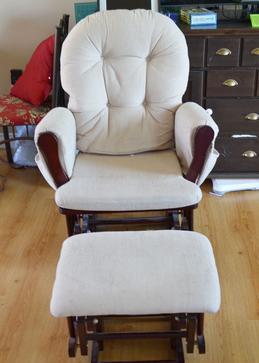 Crafty Fridays How to Recover a Glider Glider rocker