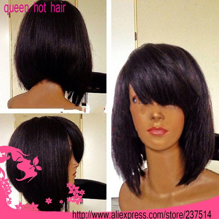 large stock !100%brazilian virgin remy hair #1 color short bob