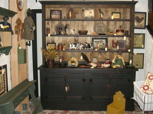 Primitive Rustic Country Decor Incredible Primitive Dining Room Hutch 500 X