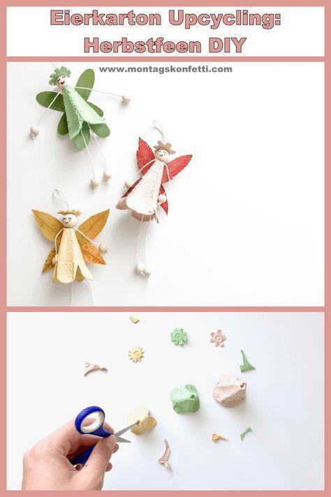DIY Herbstfeen – Eierkarton Upcycling