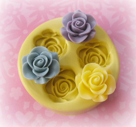 Silicone Rose Mold Fondant Mold Resin Mold Chocolate Flower