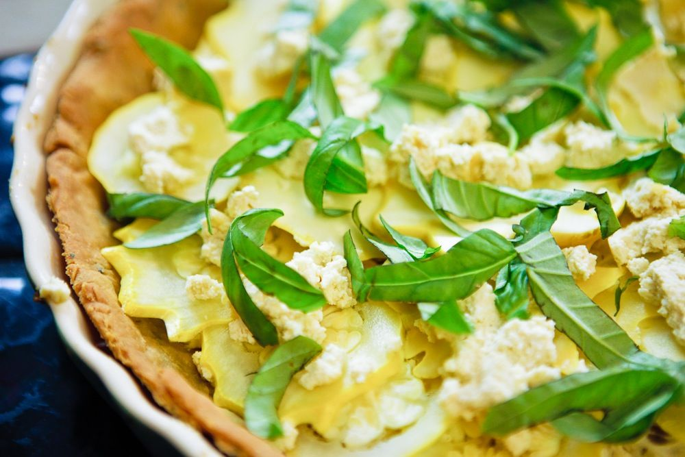 What makes this Star Squash Tart extra special? Tofu Chèvre! Hell yes.