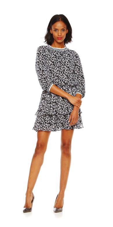 Tiered Ruffle Bottom Dress
