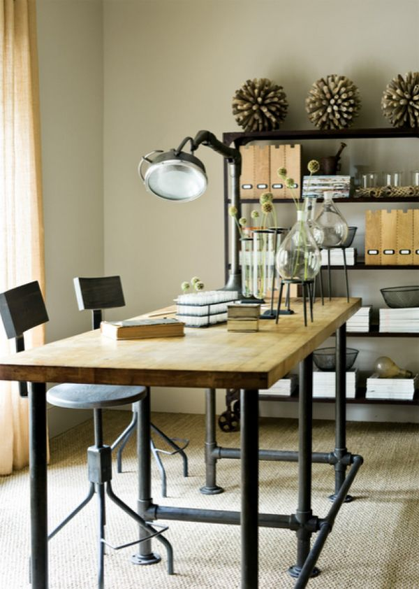 home office design ideas ideas interiorholic. DIY Table Using Pipes In Home Decor | InteriorHolic.com Office Design Ideas Interiorholic E