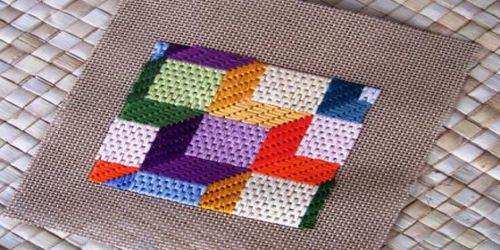 Day 89 3 D Bargello Embroidery Challenge Design This Needlepoint