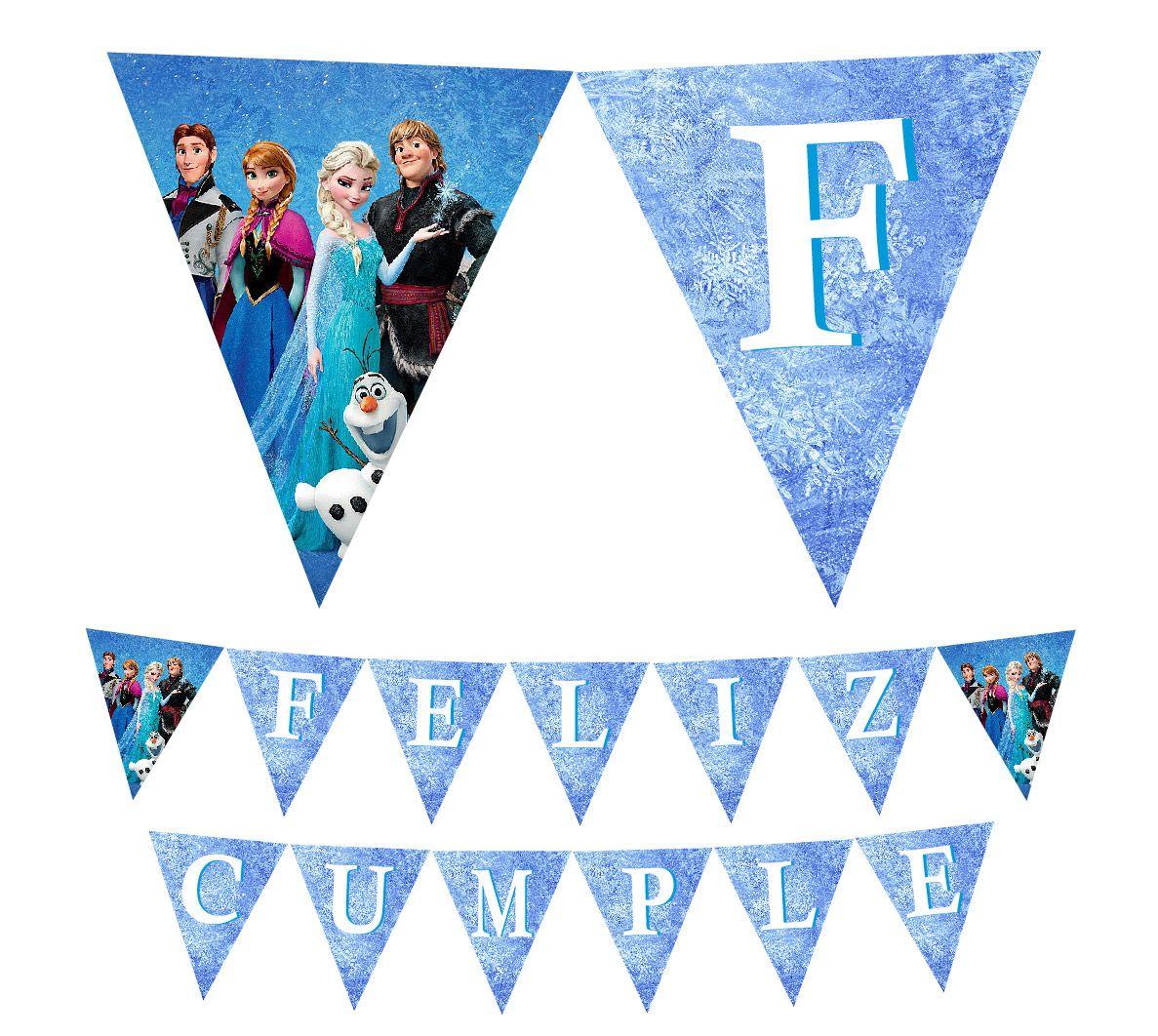 Frozen Birthday Banner Printable Frozen Banner Party By: Frozen Printable Happy Birthday Banner En 2019