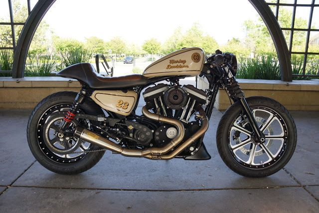 Go Awesome Harley Davidson 883 Iron Cafe Racer By Chris Owens