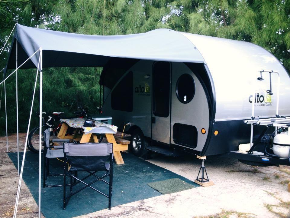 Teardrop Trailer With A Canopy Teardrop Trailer Popup Camper Recreational Vehicles