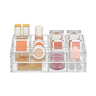 small clear acrylic makeup storage trays starter kit with