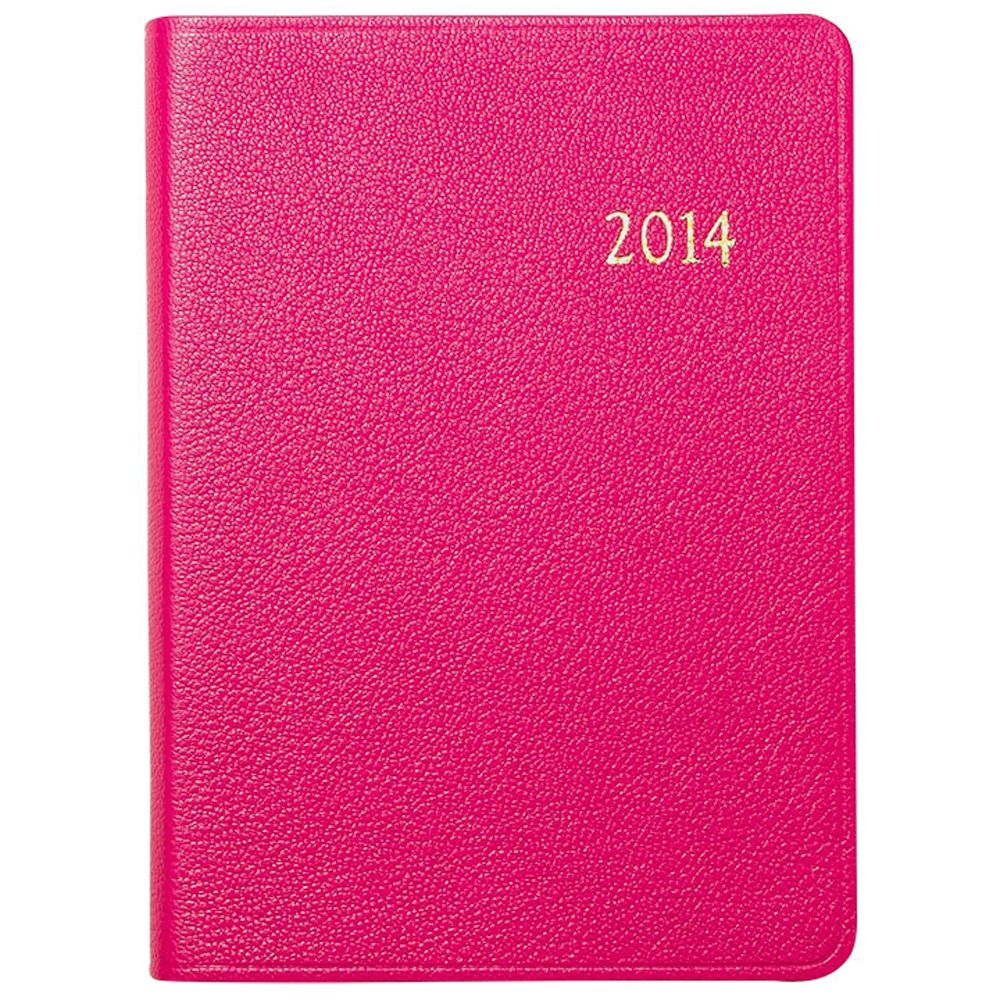 Graphic Image 2014 Leather Weekly Notebook Bright Pink