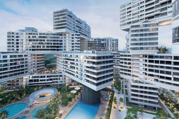 Architecture modern design the interlace by oma ole scheeren forms a vertical village in singapore desi