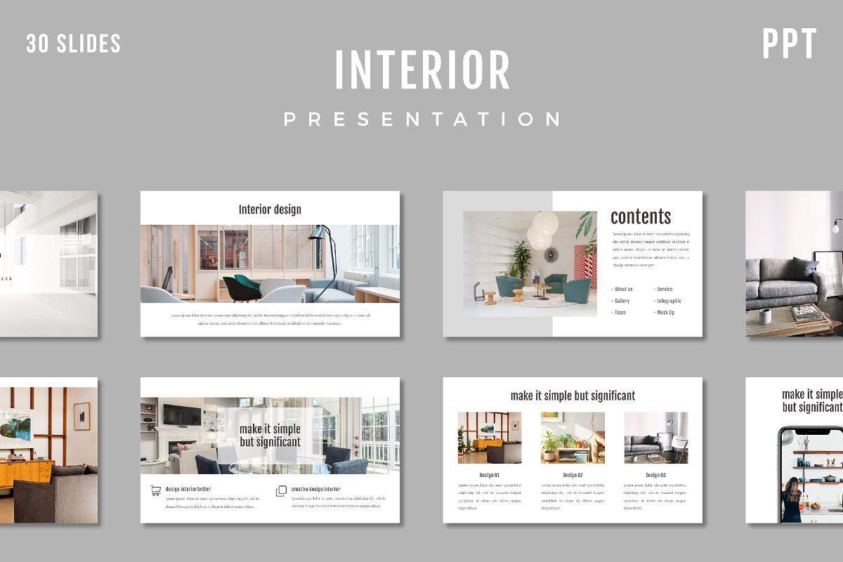 Interior Powerpoint Template Interior Presentation Presentation Interior Design Presentation