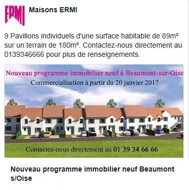 Nouveau programme immobilier neuf à Beaumont-sur-Oise 9 Pavillons