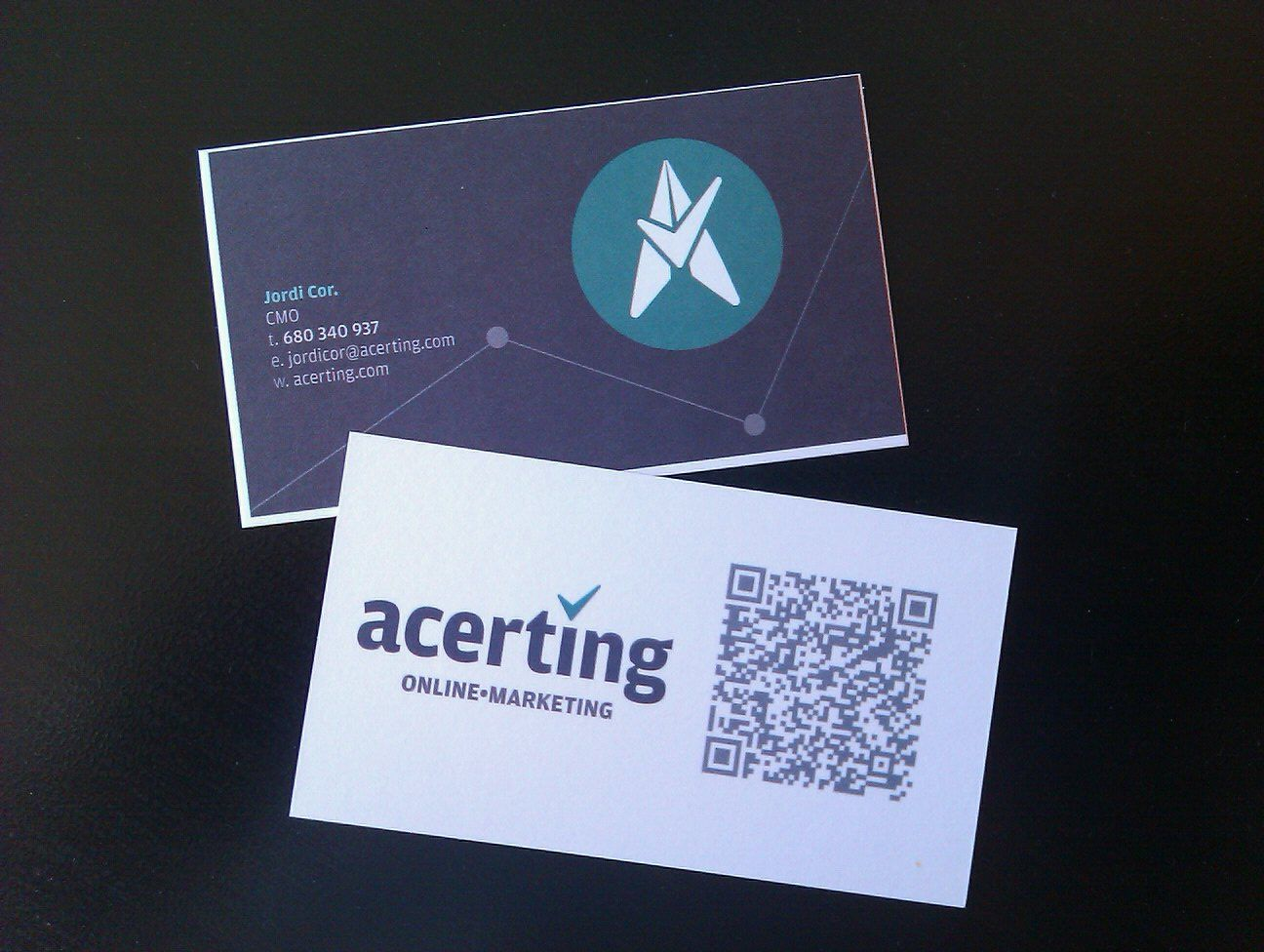 Business card qr code acerting cards coding qr code