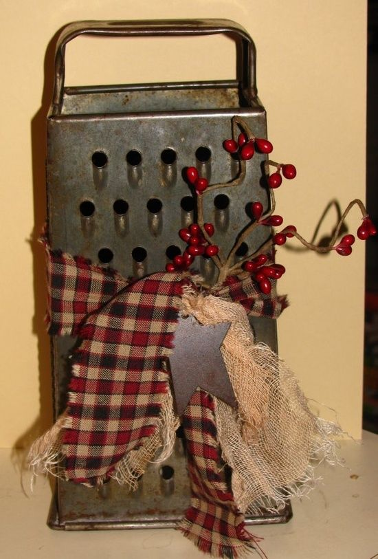 Good Primitive Christmas Craft Ideas Part - 10: Pinterest Craft Ideas | Primitive Craft Ideas / Grater - This Would Also Be  Nice With