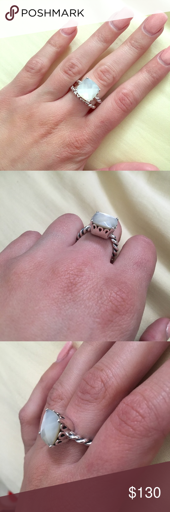 Mother Of Pearl Pandora Ring Selling this beautiful mother of pearl ...