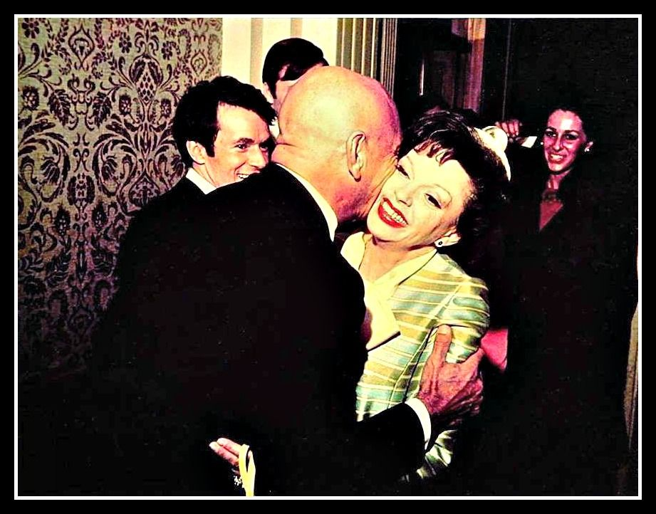 Yul Brenner Kisses Judy Garland At The Wedding Reception Of Her Daughter Liza Minnelli To Peter