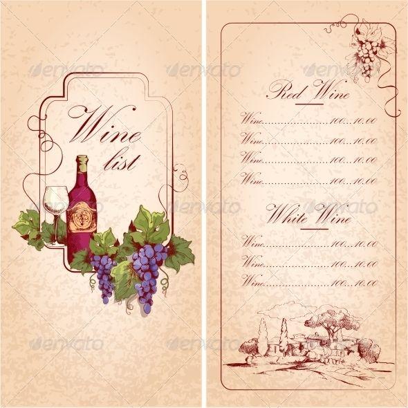 Download Wine List Template For Free Wine List Wine List Menu Wine Design