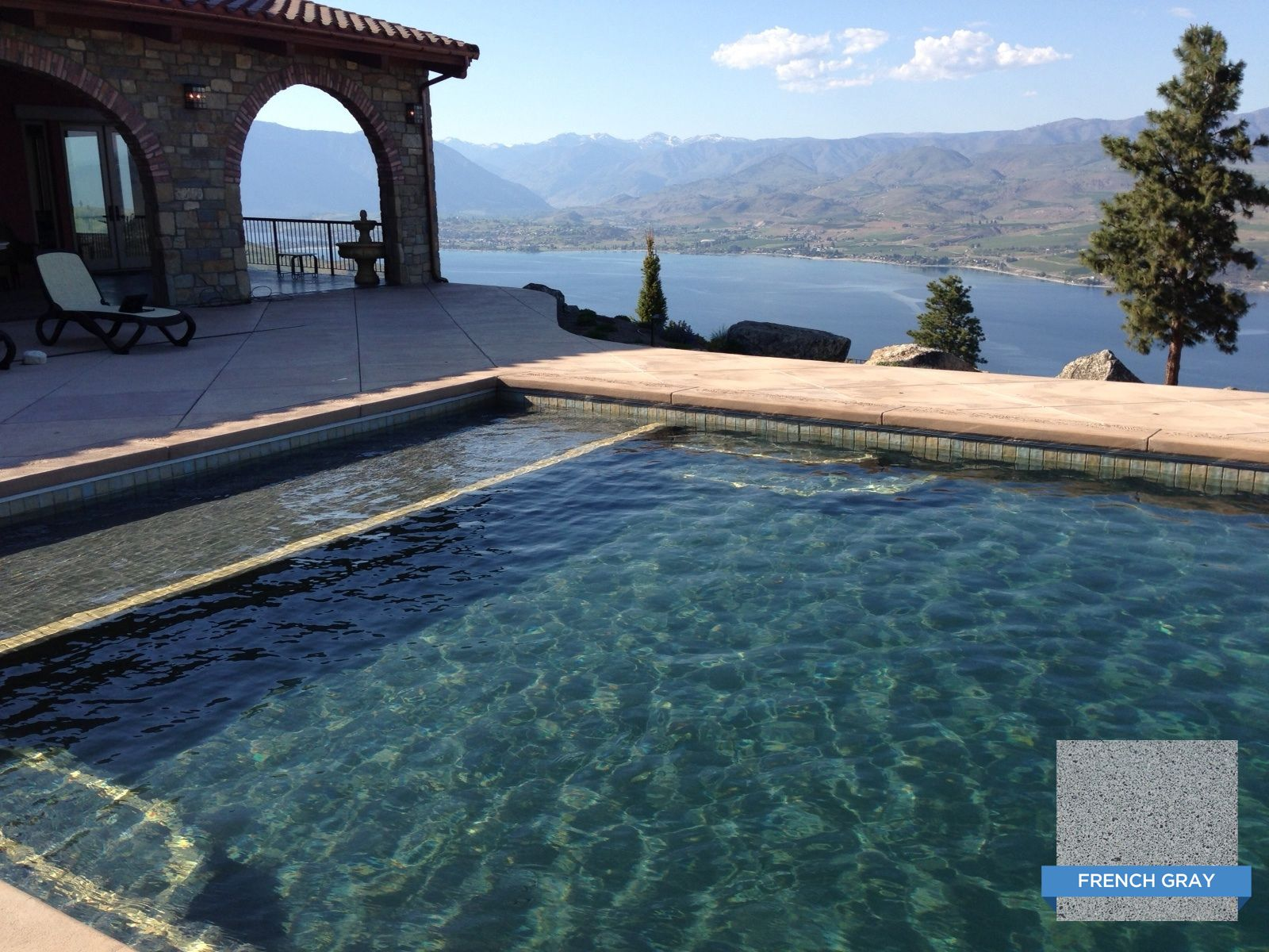 Hydrazzo French Gray In An Elegant Pool With A Million Dollar View