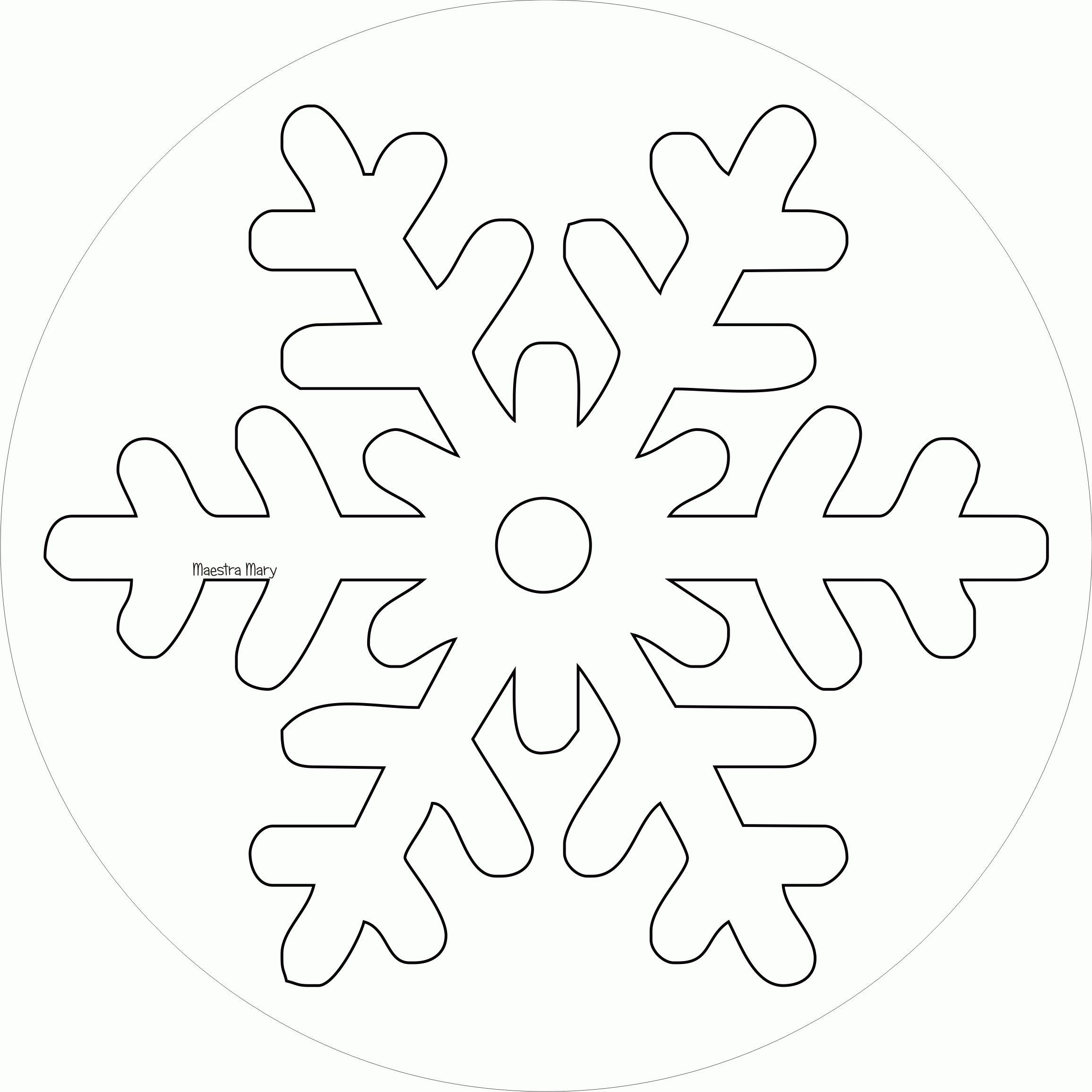 Inverno Sagome E Disegni Maestra Mary Stampare Cristalli