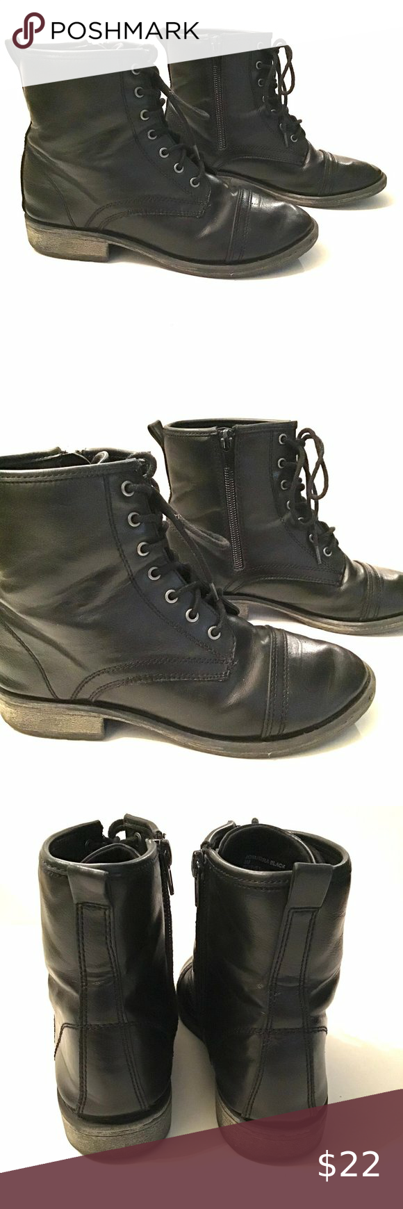 Madden Girl Combat Boots Size 3 Kids in