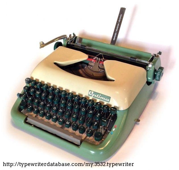 1961 Optima Super On The Typewriter Database Typewriter Super Electronic Products