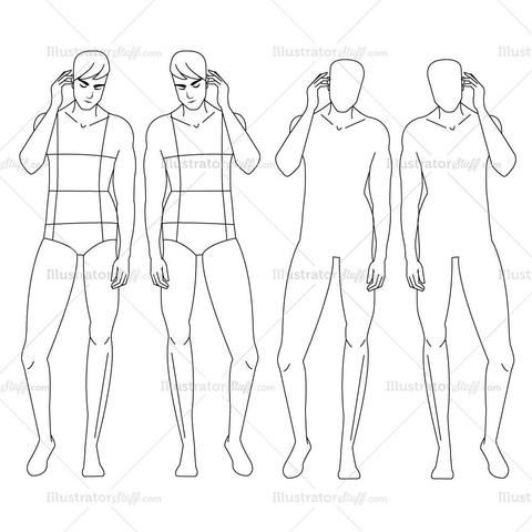 Male Fashion Croquis Template Croquis, male Pinterest - fashion designer templates