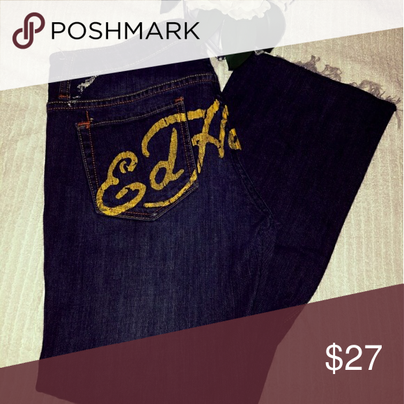 Ed Hardy jeans Cut up Ed Hardy jeans , Not long , No Trades or pay pal Ed Hardy Jeans Straight Leg