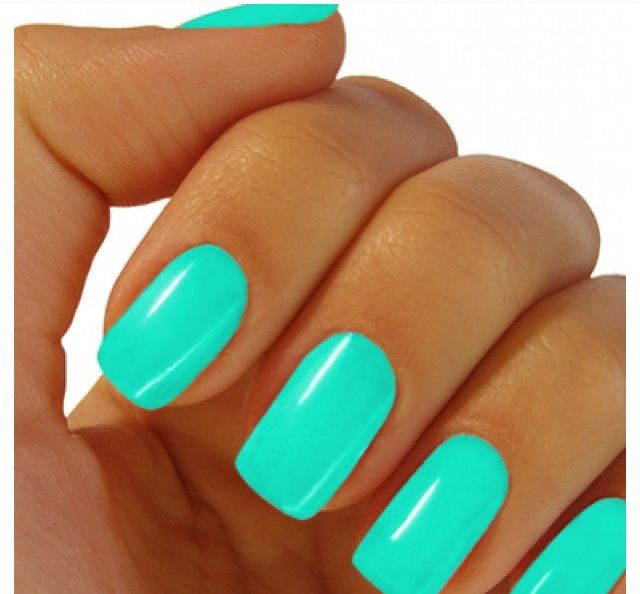Neon teal | Nail Polish | Pinterest | Teal