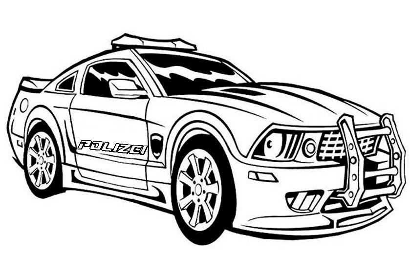 polizeiauto zum ausdrucken  polizeiautos auto zeichnen