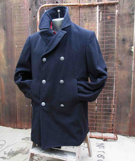76ceaf912cf2 This is an authentic US military vintage sailor Pea Coat jacket or a ...