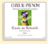 Etiquette Bouteille Vin Retraite Imprimer Etiquette