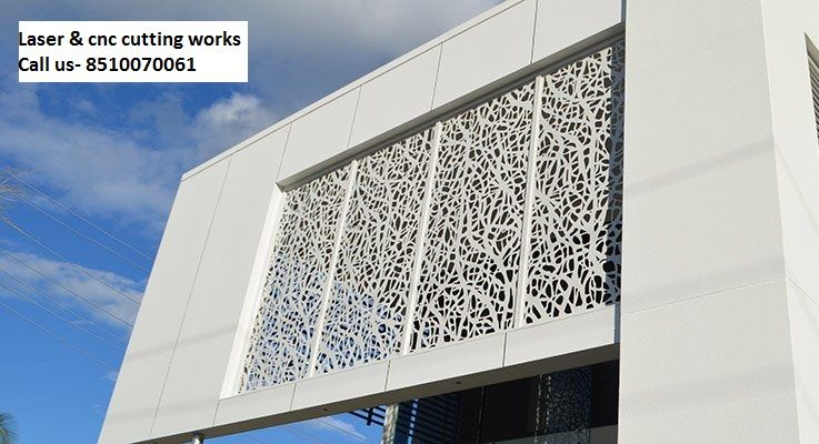 Front Elevation Glass Work : We provide all kind of laser and cnc cutting work on these