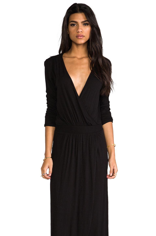 La Made 3 4 Sleeve Surplus Jersey Maxi Dress In Black From Revolveclothing Maxi Jersey Dress Maxi Dress Dresses [ 1450 x 960 Pixel ]