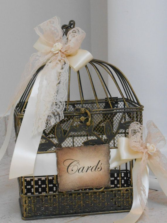 Birdcage Wedding Card Holder / Small Birdcage by TheLaceMoon
