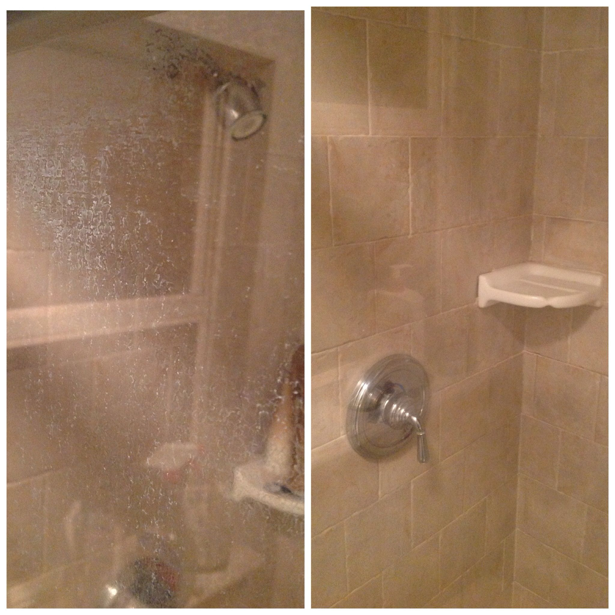 For Erika. My shower doors before and after. Steel wool u0026 Barkeepers Friend & For Erika. My shower doors before and after. Steel wool ...